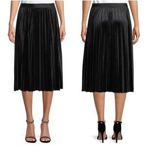 [Max Studio] Velvet Midi Skirt